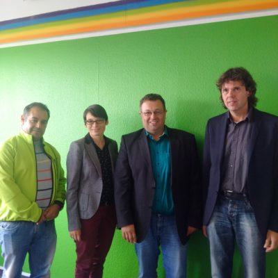 Christoph Kattentied, Josefine Paul, Mehrdad Mostofizadeh  (Vorsitzender der GRÜNEN Landtagsfraktion), Otto Reiners